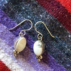 Jewelry - RARE white buffalo stones & sterling silver